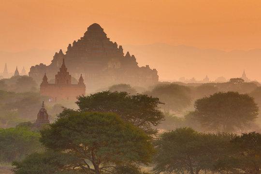 Dhammayangyi Pagoda at Sunset, Plain of Bagan, Myanmar