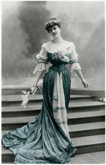 Berthe Vincourt Wearing a Beautiful Dress 1904
