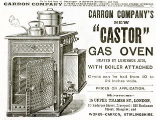 Advertisement for CArron CompAny GAs Oven 1889