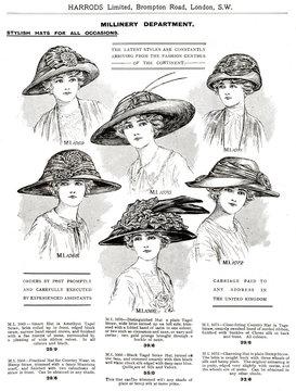 Trade Catalogue of Womens Hats 1911