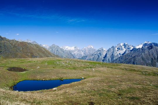 The Koruldi Lakes in the Caucasus Mountains