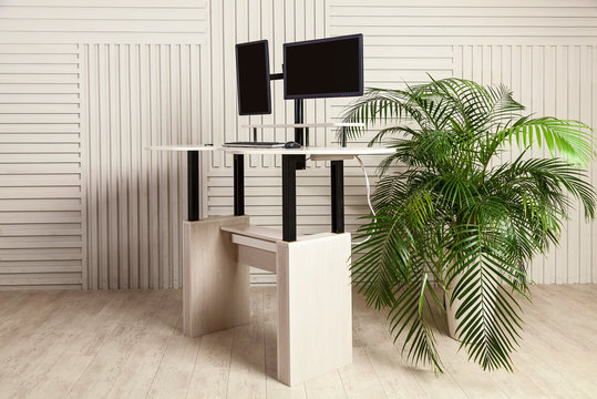 office desk for sitting and standing