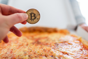 Bitcoin pizza day anniversary. The first reported exchange of cryptocurrency for a consumer product on May 22, 2010.