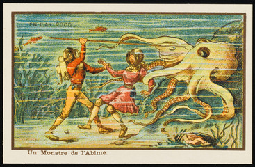 Futuristic Encounter with an Octopus