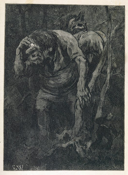 Woodcutter Avoids Large Trolls