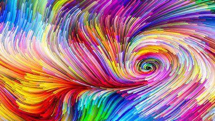 Colorful Paint Visualization