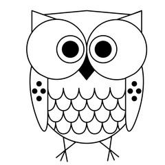 owl geometric black line illustration
