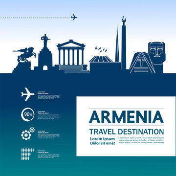 Armenia travel destination vector illustration.