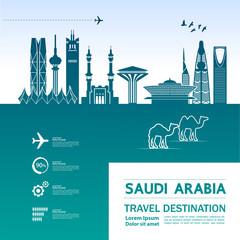 Fotomurales - Saudi Arabia travel destination vector illustration.