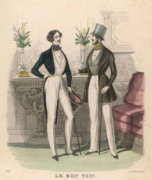 Fashion Plate 1837 Men