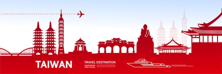 TAIWAN travel destination vector illustration.
