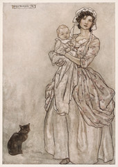 Mother Baby Cat 1905