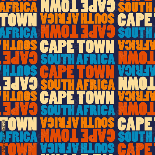 capetown, south africa seamless pattern