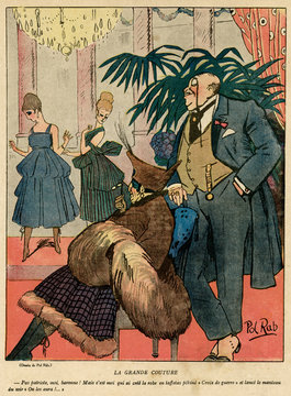 Cartoon, La Grande Couture, Ww1