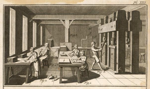 Paper Making 18th Century
