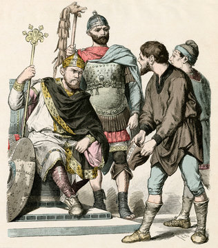 King, Soldier, Labourers