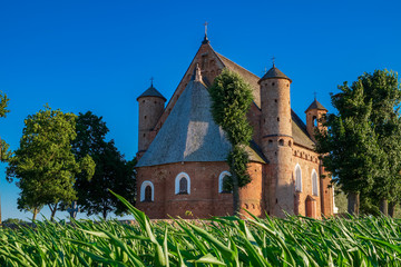 15th century St Michael fortified church in Synkovichi village, Grodno region, Belarus.