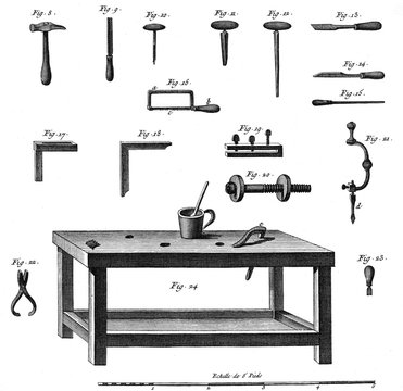 Tools for Making Musical Instruments, C1750