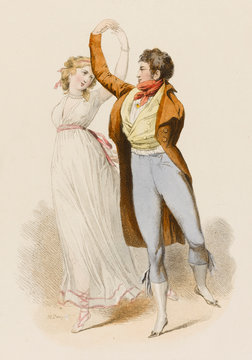 French Dancers 1798