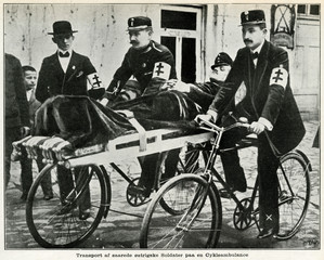 Bicycle Ambulance Tranporting Injured Austrian Soldier 1915