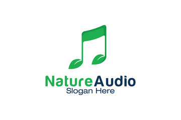 Nature Audio Logo Design Template