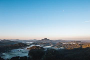 Morning a few moments before sunrise in Czech republic
