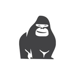 gorilla logo icon vector