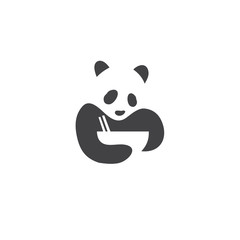 panda logo icon vector