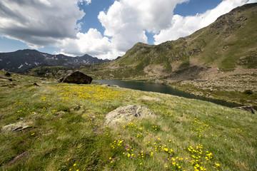 Tristaina high mountain lakes in Pyrenees, Andorra.