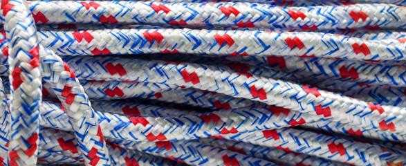 Diamond braided polypropolyene rope