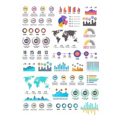 set of business infographic element - logo design vector