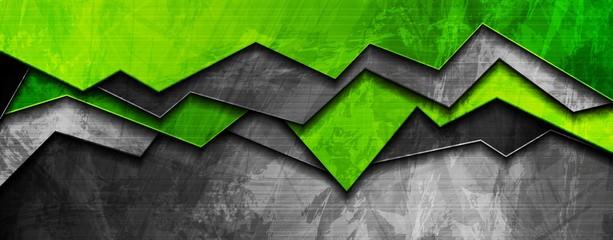 Fotobehang - Abstract bright green grunge banner design