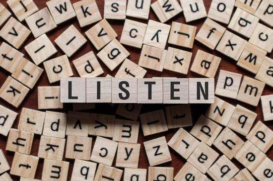 Listen word concept