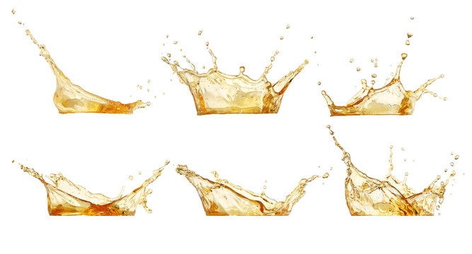splashes set isolated on white