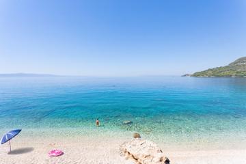 Drasnice, Dalmatia, Croatia - Relaxing at the beautiful beach of Drasnice