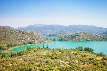 Bacina Lakes, Dalmatia, Croatia - Overview across the beautiful Bacina Lakes