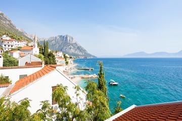 Brist, Dalmatia, Croatia - Lookout upon the beautiful bay of Brist