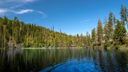 Prasily lake in Sumava national park, Czech Republic.