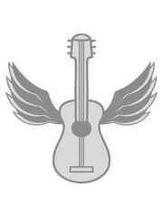 flügel fliegen engel himmel cool gitarre lernen spielen song cool sänger band party feiern spaß clipart comic cartoon design