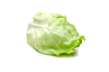 Light green cabbage on a white background