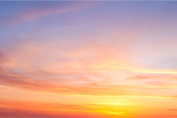 Real majestic sunrise sundown sky with gentle colorful clouds Wall mural