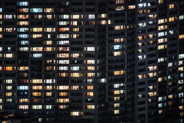 横浜の夜景と住宅地