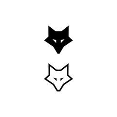 fox head icon on white background