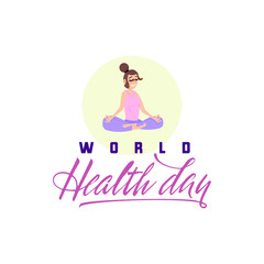 World Health day. Holiday poster - flat design