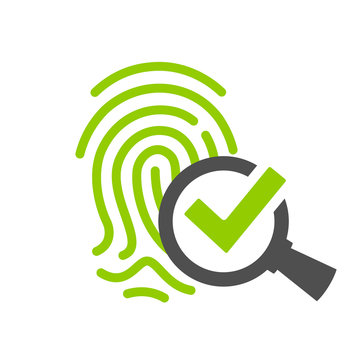 Biometric identification vector icon
