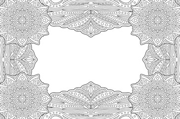 Frame for coloring book page with copy space