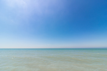 Clear skies above the Gulf of Mexico from Florida beach