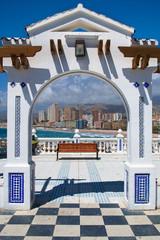 View of coast benidorm,Spain, in summer