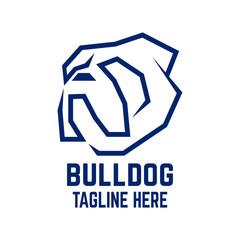 Modern pet bulldog logo