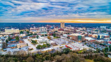 Canvas Prints Countryside Spartanburg, South Carolina, USA Skyline Panorama